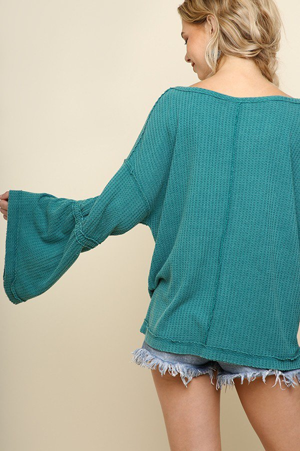 Bell Sleeved V Neck