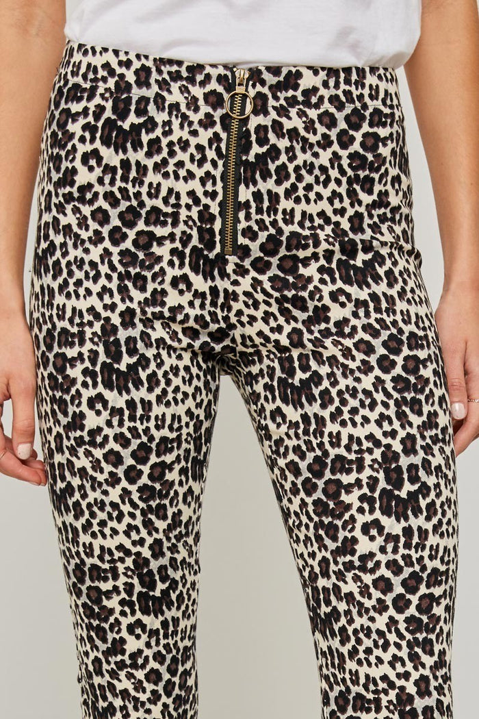 High-Rise Leopard Print Pants