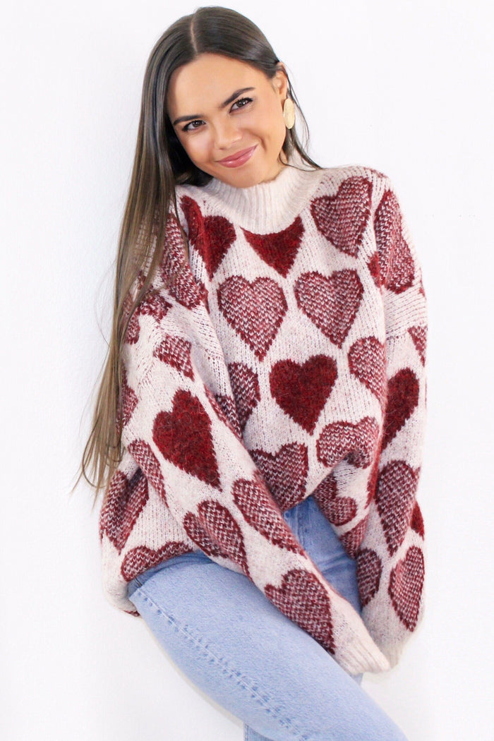 Queen of Hearts Sweater