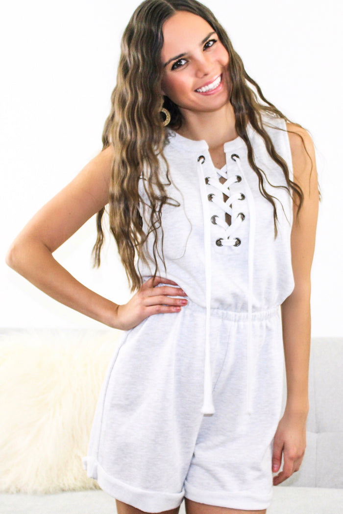 Lace-Up Romper