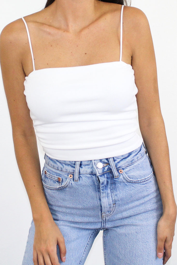 White Cami Crop Top