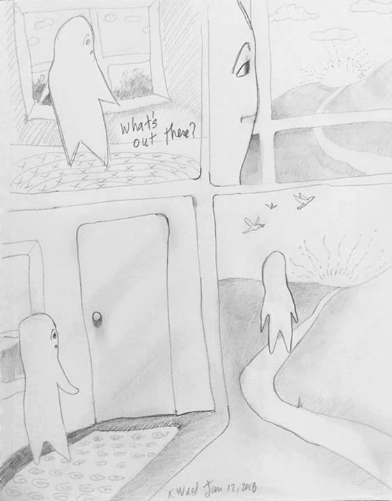 an Artist's Life Cartoon What's Out There?