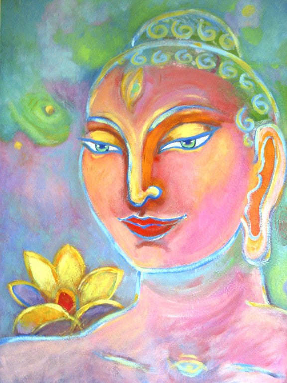 Painting the Buddha: Breath, Dip the Brush and Look at your Buddha Reflection