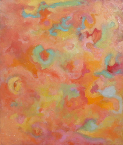 "Sun Realm Color Field Abstract 18"" x 24"" Oil Painting"