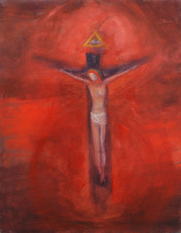 "Crucifixion Holy Friday Altar 18"" x 24"" Oil Painting"