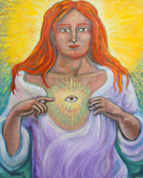 "Sacred Heart of Jesus & the Nine Friday Meditations 24"" x 30"" Oil Painting"
