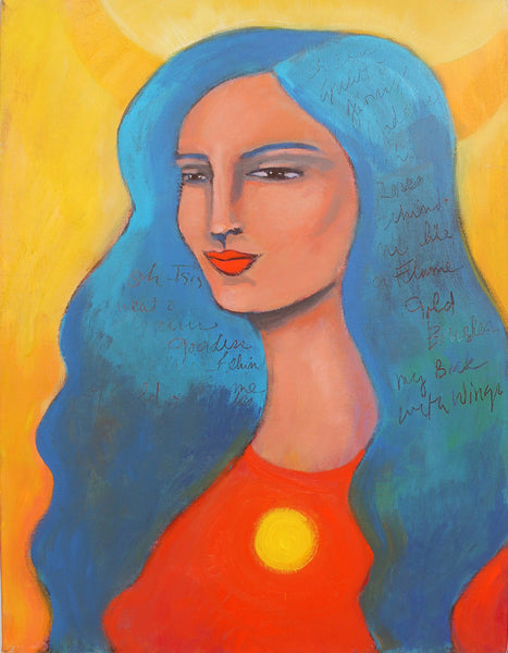 "Goddess Isis Queen of the Inner Sun  18"" x 24"" Oil Painting"