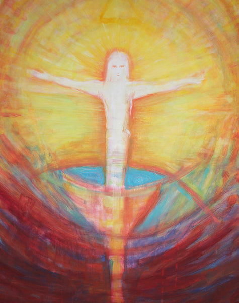 "Secret of the Holy Grail Resurrection 30"" x 40"" Oil Painting"