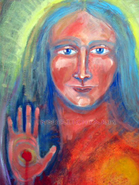 "SunDancer Spirit Sun Resurrection 24"" x 48"" Oil Painting"