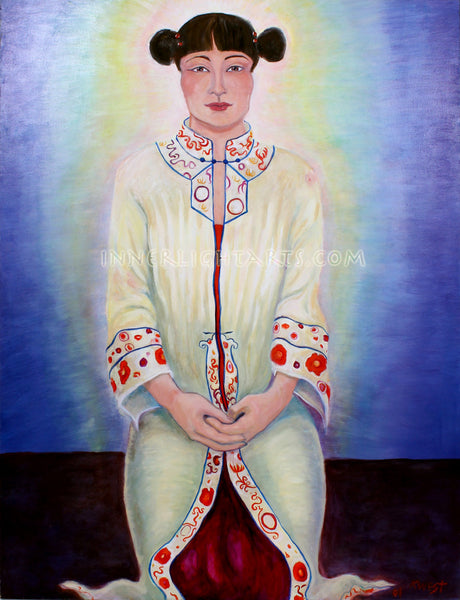 "Quan Yin Mother of Compassion  36"" x 48"" Oil Painting"