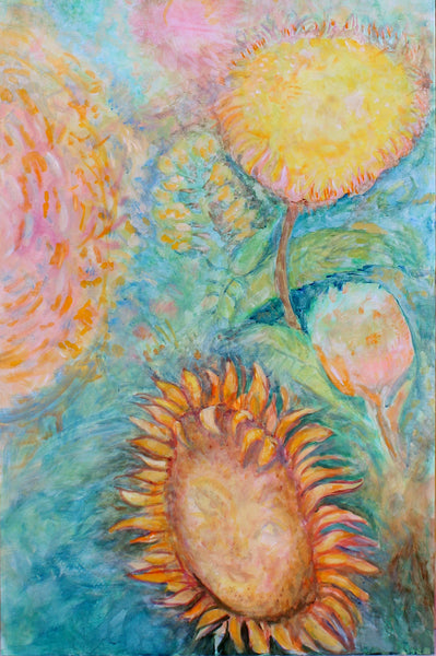 "Traveling thru Sun Spheres 24"" x 48"" Oil Painting"