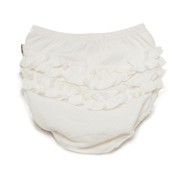 Organic Pima Cotton Ruffle Diaper Cover