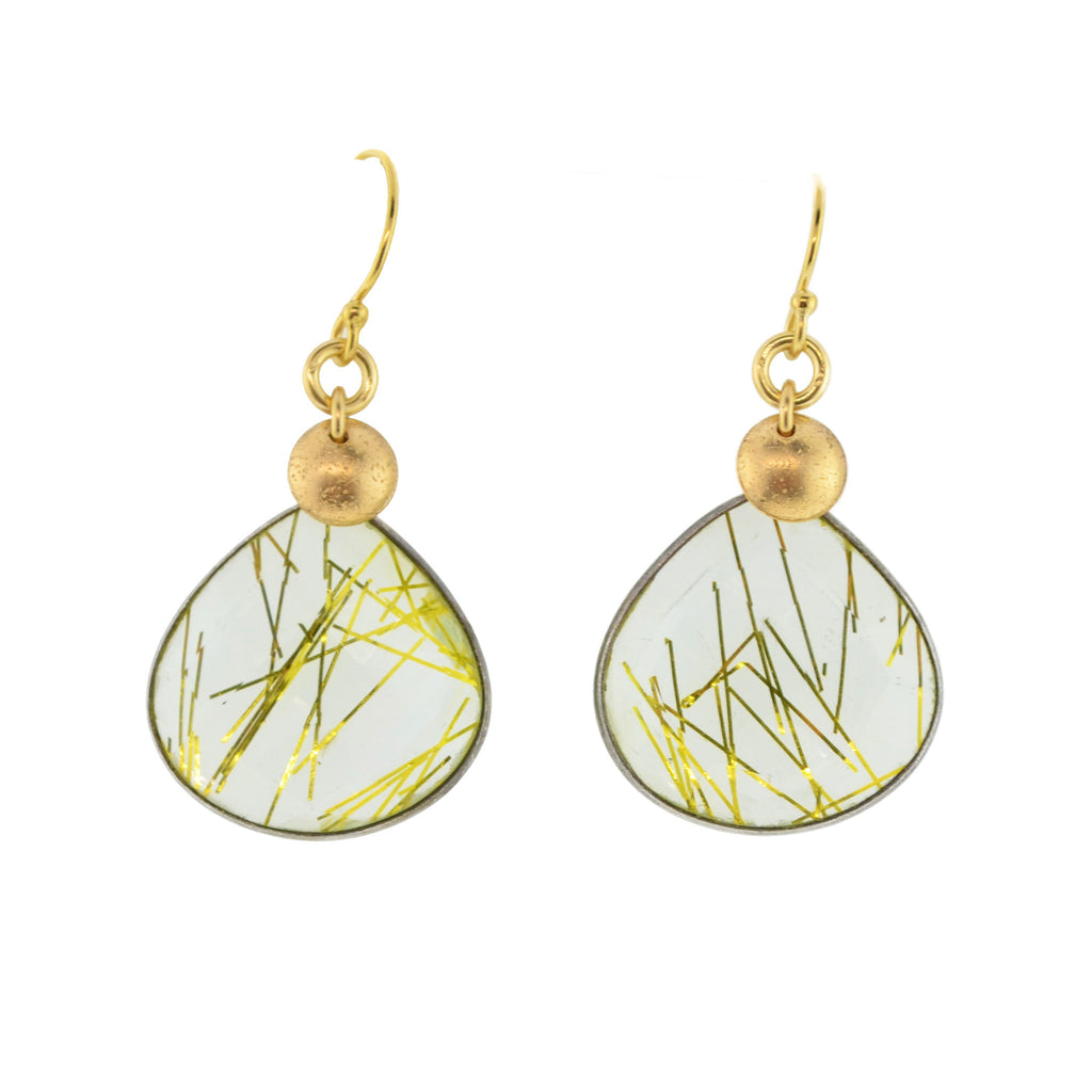 Faux Rutilated Quarts Earrings