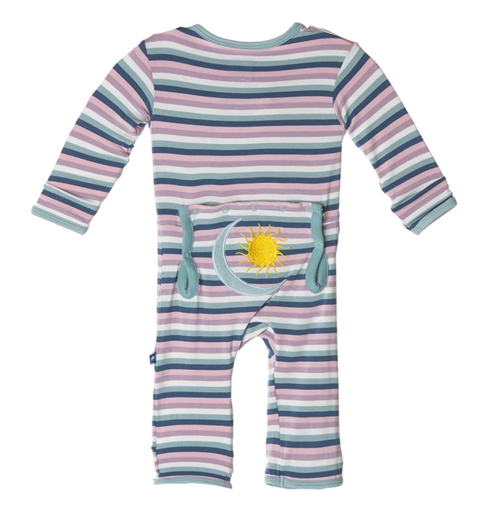 KicKee Pants Sun & Moon Stripe Coverall