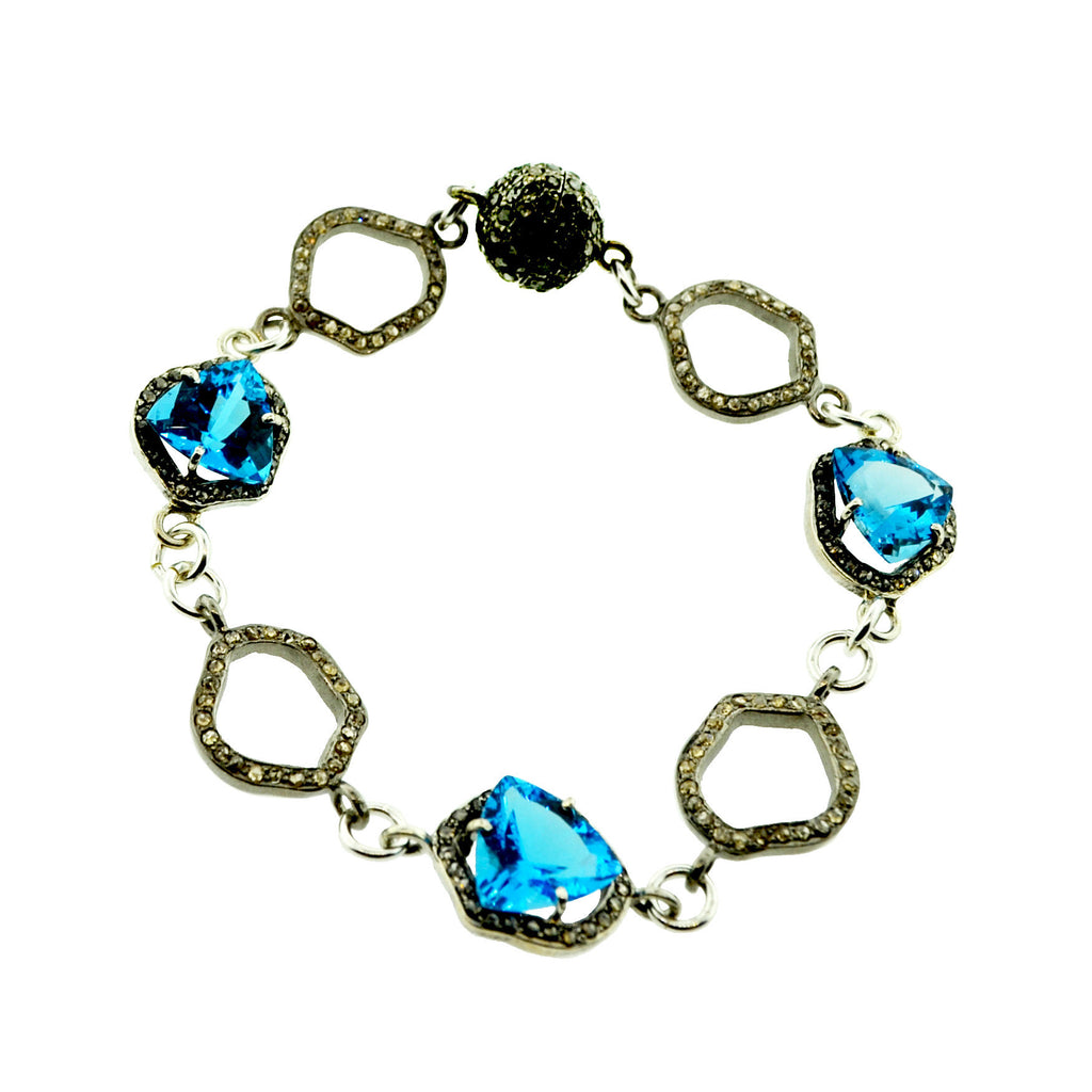 Halo In Blue Bracelet