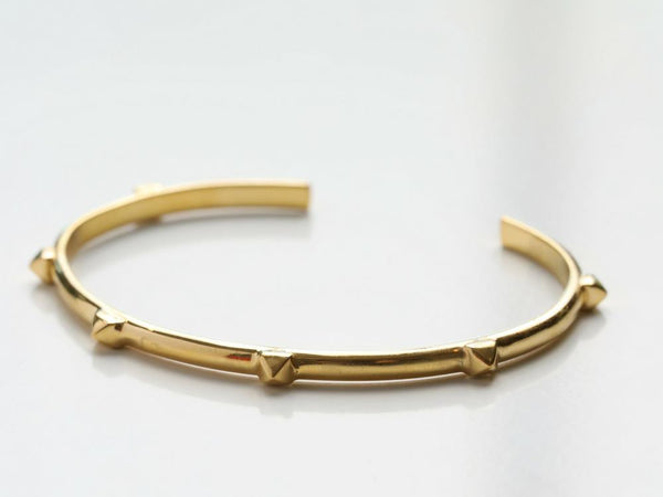 Slim Stud Cuff Bracelet in Gold, Rose Gold & Silver