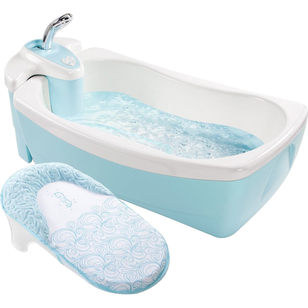 Summer Infant Lil' Luxuries Whirlpool, Bubbling Spa and Shower, Blue