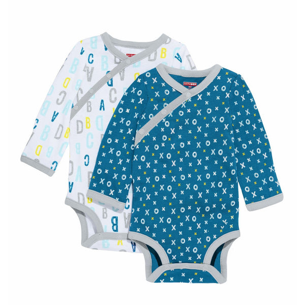 ABC-123 Long Sleeve Bodysuit Set - Blue