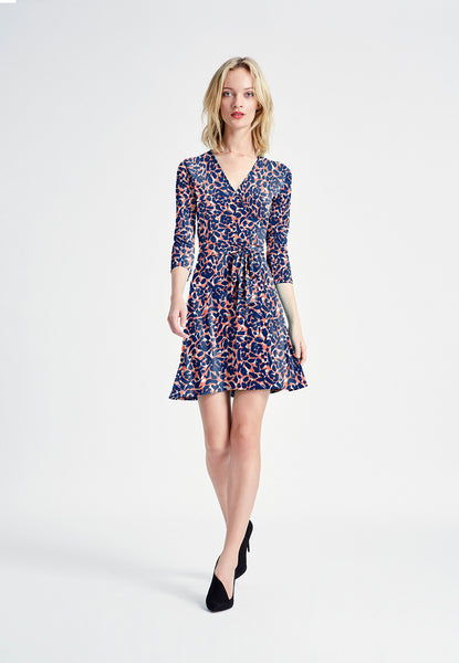 Perfect Wrap Mini Dress in Petals