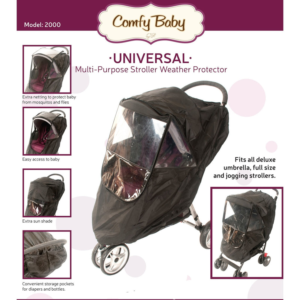 Babyroues Comfy Baby Universal Multi-Purpose Stroller Weather Shield with Window