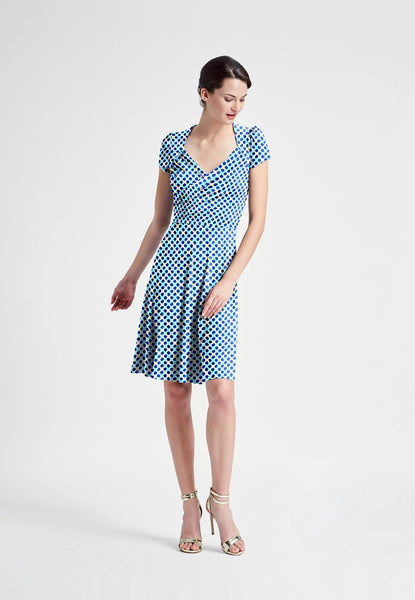 Sweetheart Dress in Trellis Dot
