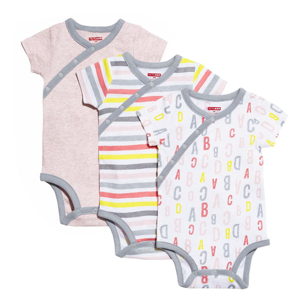 ABC-123 Short Sleeve Bodysuit Set - Pink