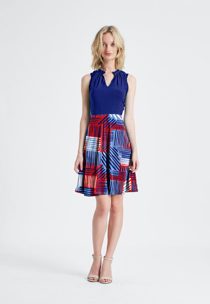 Combo Cassie Dress in Navy/Sailor
