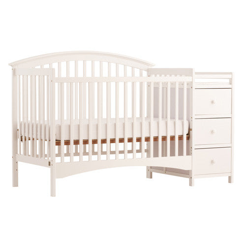 Bradford Stages 4-in-1 Fixed Side Crib with Changer