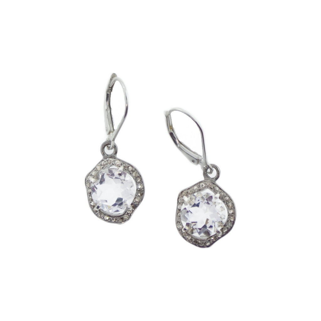 White Topaz Diva Earrings