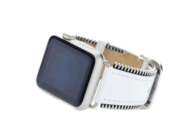 Zipper-Edged Leather Band for the Apple Watch