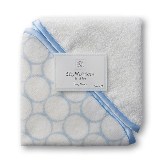 Mod Blue Washcloth Set