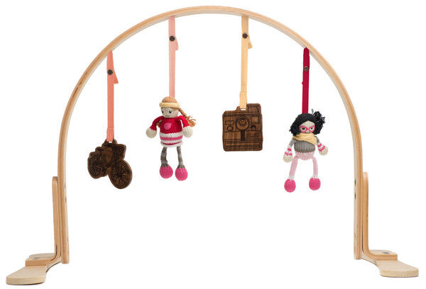 Hipster Wooden Play Gym  Light Birch