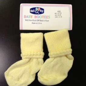 Balloons Bootie Socks, 12-18m - Maize