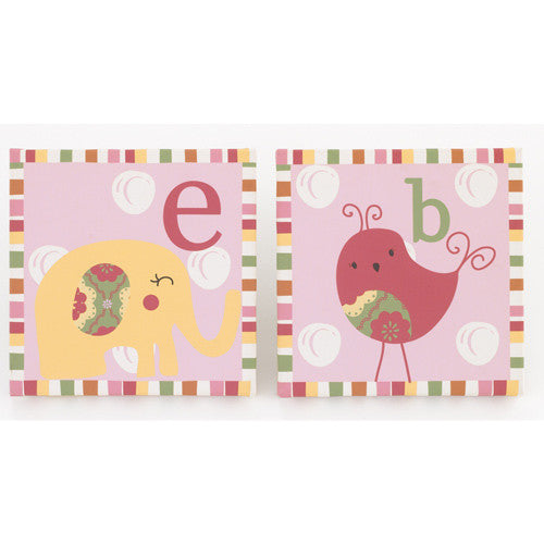 Alphabet Sweeties 2 Piece Wall Art