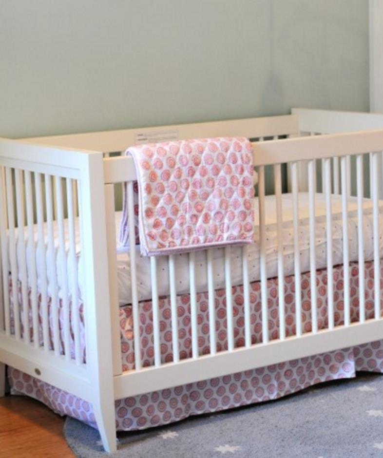 Raspberry Amrita Crib Skirt