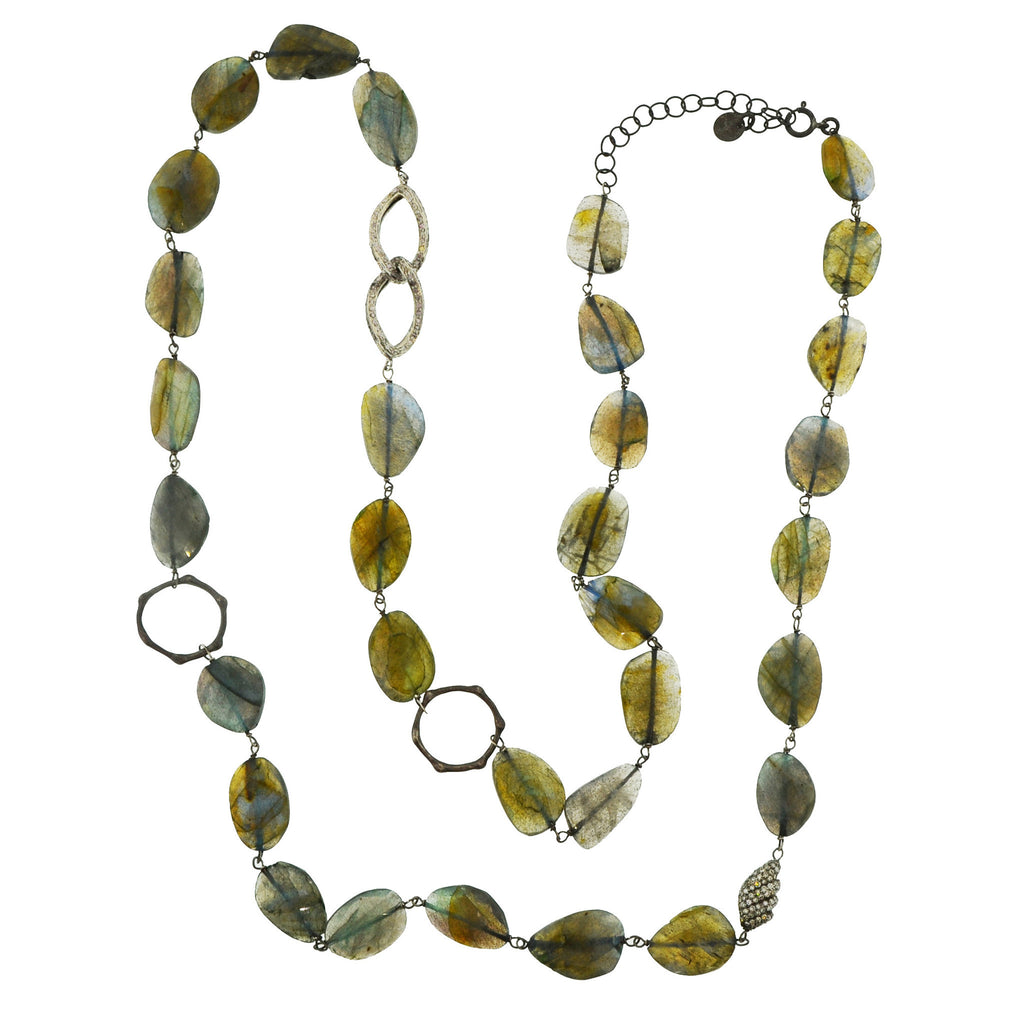 Verona Labradorite Diamond Necklace