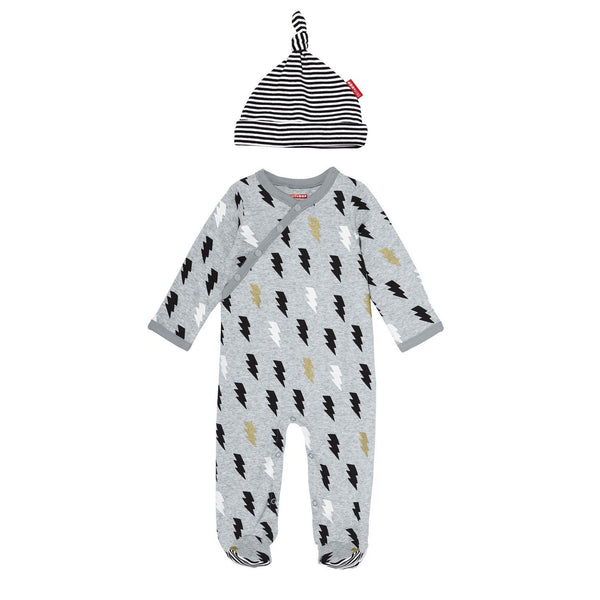 Star-Struck Footie & Hat Set - Lightning