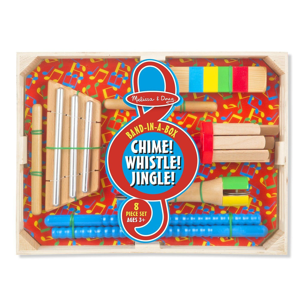 Melissa & Doug Band-in-a-Box Chime! Whistle! Jingle! Set