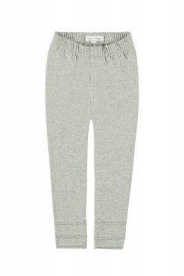 Raw Edge Legging  Light Grey