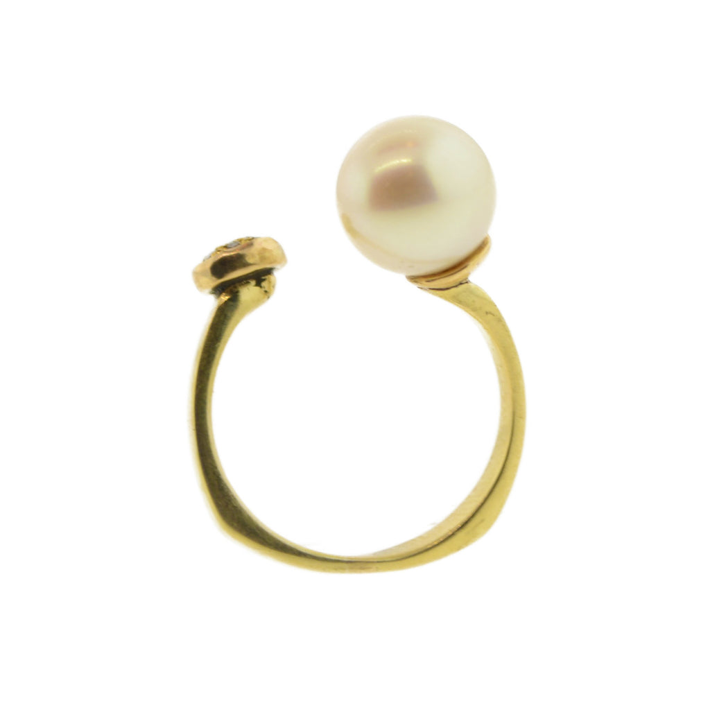 Pearl Diamond Ring