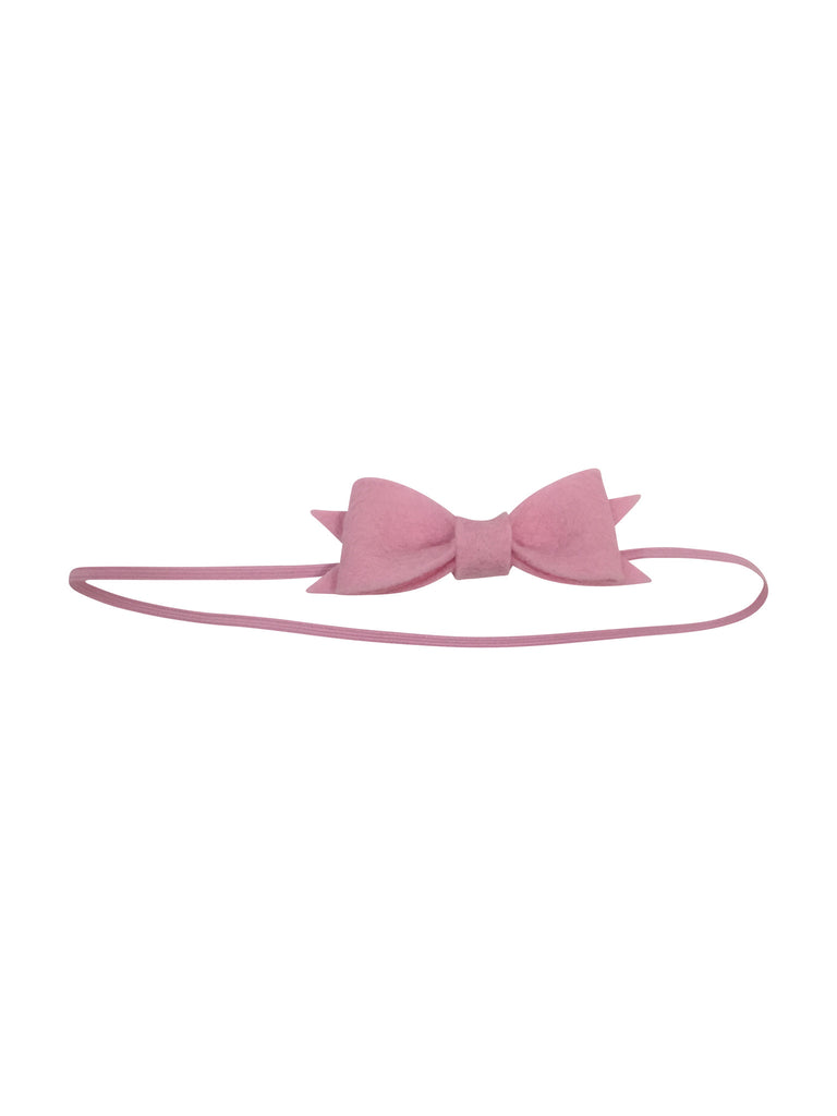 100% Wool Felt Bow Headband