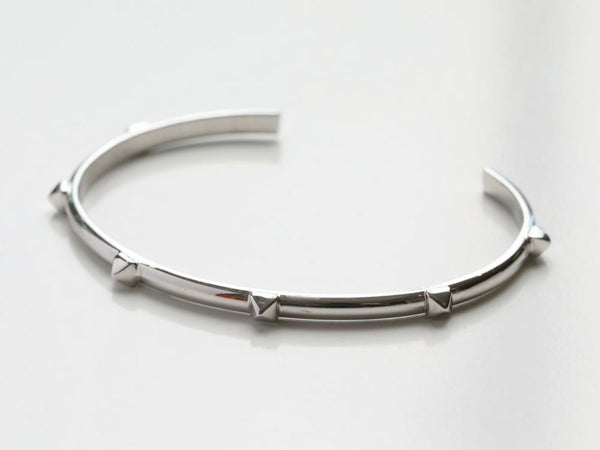 Slim Stud Cuff Bracelet in Silver, Gold, & Rose Gold