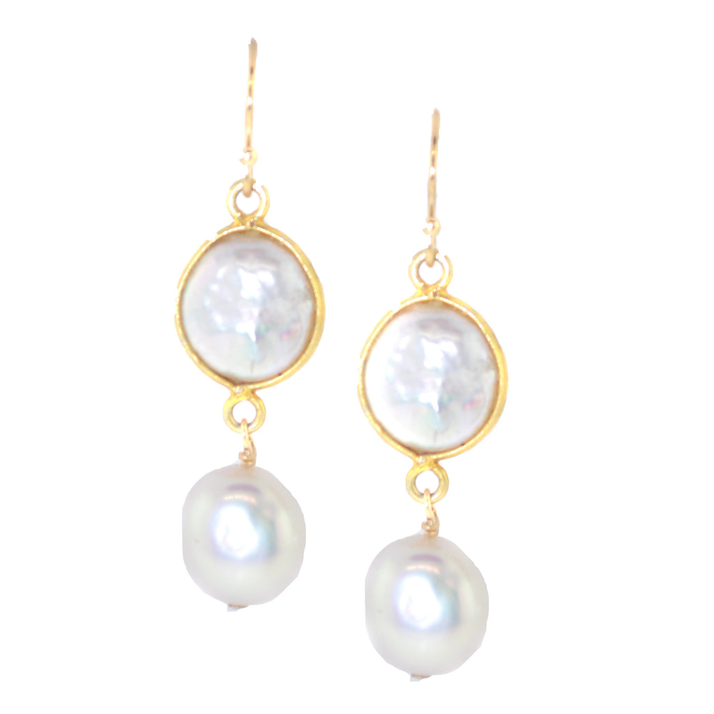Oval pearl With Pearl Drops