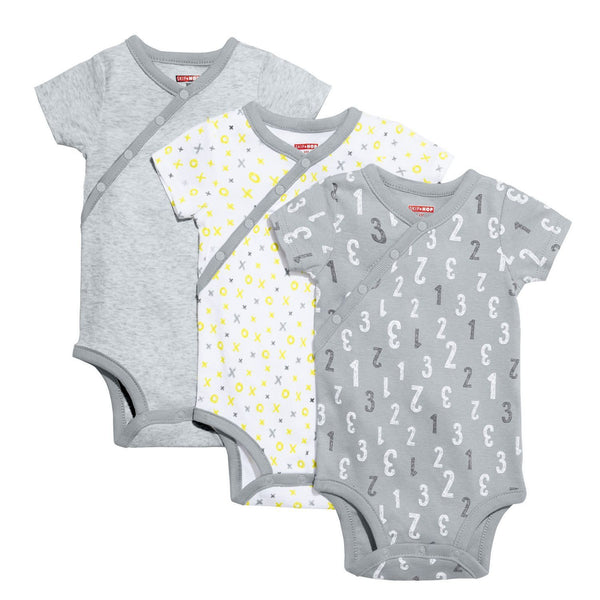 ABC-123 Short Sleeve Bodysuit Set - Grey