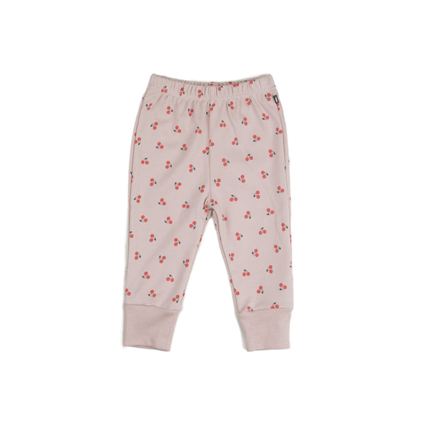 Organic Pima Cotton Leggings  Pink Cherries