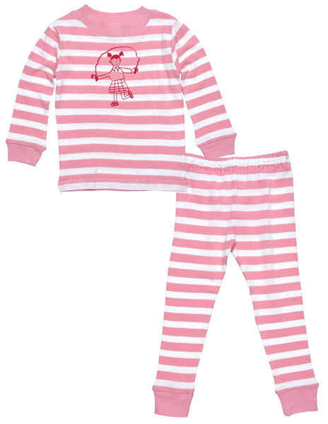 Pink Striped Long Johns