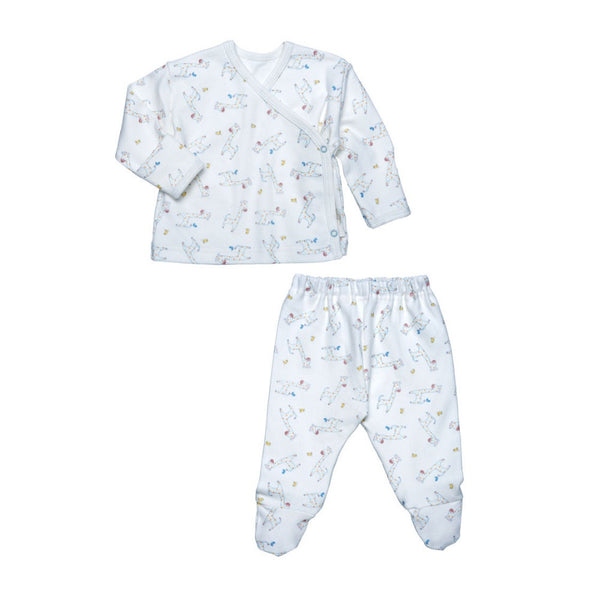 Under The Nile Side Snap Layette Set - Gentle Giraffes
