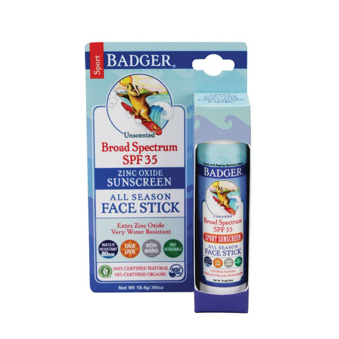 Badger SPF 35 All Season Face Stick .65 Oz