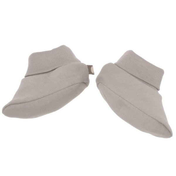 Organic Pima Cotton Booties  Light Grey