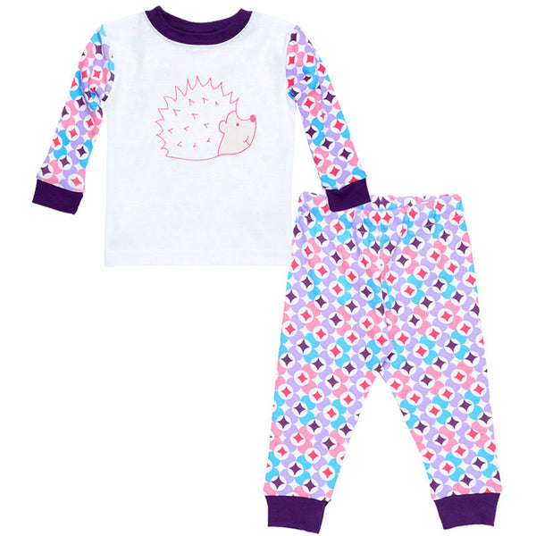 Kids Long Johns - Prism Print Plum